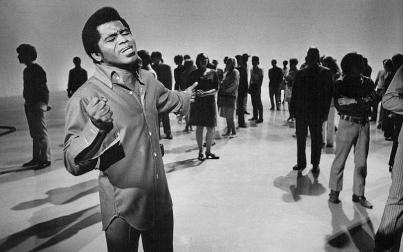 Photo of James Brown performing on the ABC Television program Music Scene
