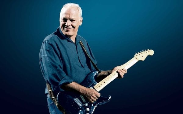 David Gilmour with his Black Strat