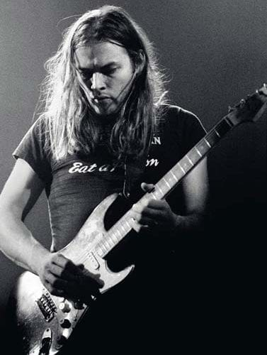 David Gilmour with Pink Floyd in 1973